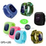 Criança portátil Rastreador GPS assista com localização em tempo real Y2
