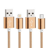 Isolados de nylon Cabo USB de 8 pinos para a Samsung e iPhone da China Factory