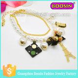 Braccialetto di fascino del cristallo di zaffiro dell'Austrian di modo della signora/braccialetto dorato del rosario dell'a cristallo placcato