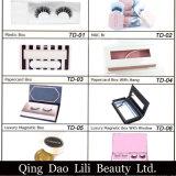 Lilibeautyの普及した新しい3Dのどのミンクのまつげの絹のストリップは卸し売りカスタムまつげの包装を打つ