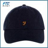 6つのパネルの野球帽の刺繍のロゴのゴルフ帽子