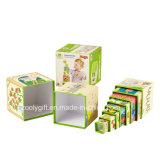 Modificar el rectángulo de regalo para requisitos particulares jerarquizado papel de empaquetado del diseño de la impresión del juguete divertido de los niños