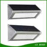 Luz solar al aire libre solar de aluminio de la pared de la lámpara IP65 LED del sensor de movimiento del radar de microonda de la alta calidad durable 48LED 1000lm
