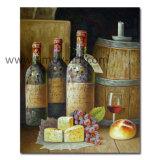 Тяжелой нефти бутылок вина картины маслом на холсте