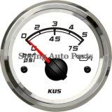 """Sq 2"""" Mecánica Medidor de manómetro de aceite de 0-5 bares de doble capa de vidrio reforzado Anti-Fogging"""