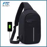 O iPad da carga do USB de um External de 12 polegadas Backpacks sacos impermeáveis contra-roubo