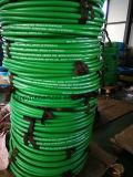 Uma mangueira de borracha hidráulica R1at/1sn da trança do fio de aço da camada