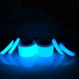 安全指導のための暗いPhotoluminescentテープで光る青い発光性カラー8時間の