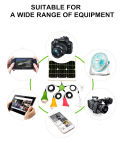 Lampe solaire de DEL avec le bloc d'alimentation mobile solaire de panneau solaire