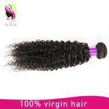 Venda por grosso de ondulação Kinky Barata Virgem Brasileiro de extensão de cabelo humano