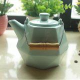 OEMのロープの白いコーヒー鍋の多彩な磁器の茶鍋が付いている陶磁器の茶鍋