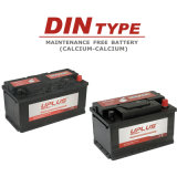 DIN печатает автомобиль на машинке начиная батареи автомобиля батареи