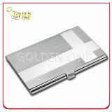 Portatarjetas de lujo del nombre comercial del metal del patrón del diseño