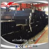 Quadrato nero e tubi vuoti rettangolari dell'acciaio per costruzioni edili della sezione