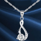 熱い販売のダイヤモンドの宝石類の女性の方法銀のネックレス925の純銀