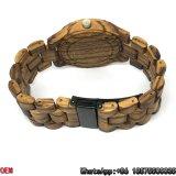 Relógios Zebra-De madeira Top-Quality de quartzo da tâmara dos relógios