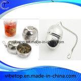 Шарик фильтра чая нержавеющей стали с ключевой цепью