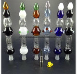 De Waterpijp van het Potlood van de kleur met de Pijp van het Glas van de Montage van het Metaal