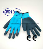 Coated латекса польностью удвоинное, Sandy наружный, перчатки безопасности работая/зима