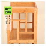 Armário para armazenamento de bambu de estante de bambu