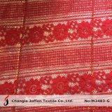 Мода вышивкой хлопок кружевной ткани для одежды аксессуары (M3483-G)