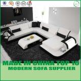 Sofá de couro moderno do projeto novo