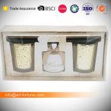 Aroma-Duftstoff-Öl-REEDdiffuser (zerstäuber) mit duftender Kerze im Geschenk-Kasten