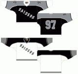 Liga de Hóquei de Ontário personalizados Kingston Raiders 1988-1989 Home/Estrada Hóquei no Gelo Jersey