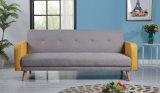 Nuevo mobiliario moderno Elegante diseño sala sofá cama de tela (HC064)