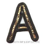 형식 Sequins 디지털 직물 직물 의복 자수는 로고를 깁는다