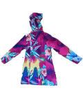 Kleurrijk Hooded pvc Raincoat voor Woman