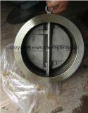 Edelstahl-Doppelplatten-Oblate-Check-Drosselventil für Wasserbehandlung