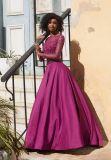 Платье вечера выпускного вечера сатинировки длинней втулки Beaded (42074)