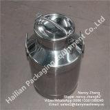 40 litros de barro de leite de aço inoxidável sanitário, lata de leite de aço