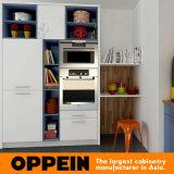 Lustre peint à la fleur moderne HPL Meubles de cuisine modulaires en bois (OP16-L03)