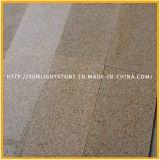 Mattonelle di pavimentazione gialle nebbiose del granito dell'oro poco costoso di tramonto G682