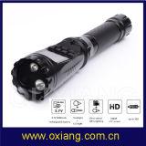 Alimentado por batería de CCTV Cuerpo de Policía de la guardia de seguridad de la cámara con la linterna