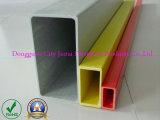 Fibra de vidrio colorido tubo cuadrado, tubo rectangular
