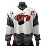 Plein de sublimation de la formation professionnelle de hockey sur glace Jerseys Wholesale sport maillot blanc personnalisé des chandails de hockey sur glace