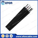FTTH autoportante 1 2 4 núcleos de fibra óptica de cable de bajada