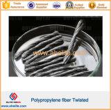 Fácil dispersión de refuerzo de fibra de polipropileno de mortero de torsión