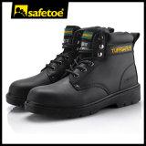 Лодыжка защитную обувь для Великобритании, гладкая кожа безопасности Shoesm-8149