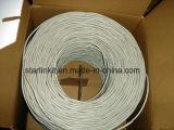 4 pares de 24AWG UTP del cobre Cat5e de Ethernet del cable puro de la red