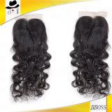 女性のための自由な部品3.5*4のブラジルの人間の毛髪のToupee