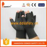 PVC черноты раковины Ddsafety 2017 черный Nlyon ставит точки перчатки безшовного половинного хлопка перста работая