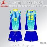 販売のためのHealong中国の製造業者の衣類の昇華女性バレーボールのワイシャツ