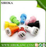 12V 2100mAh Promotional Dual o USB Car Charger di Single con Logo di Printing Client per Phone