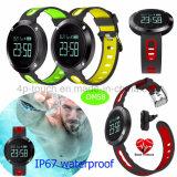 IP67 imprägniern intelligentes Armband mit Puls-Monitor und Blutdruck-Monitor Dm58