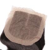 Wellen-malaysisches Haar-Menschenhaartoupee-Spitze-Schliessen-Jungfrau-Haar der Karosserien-4X4