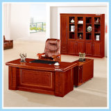 Mesa de escritório luxuosa da saliência do gerente da mobília de escritório do MDF da madeira